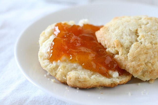 peach vanilla bean jam (In a word: awesome. Takes forever to simmer ...