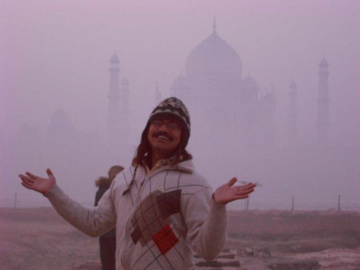 Foggy Morning by the Taj Mahal..
