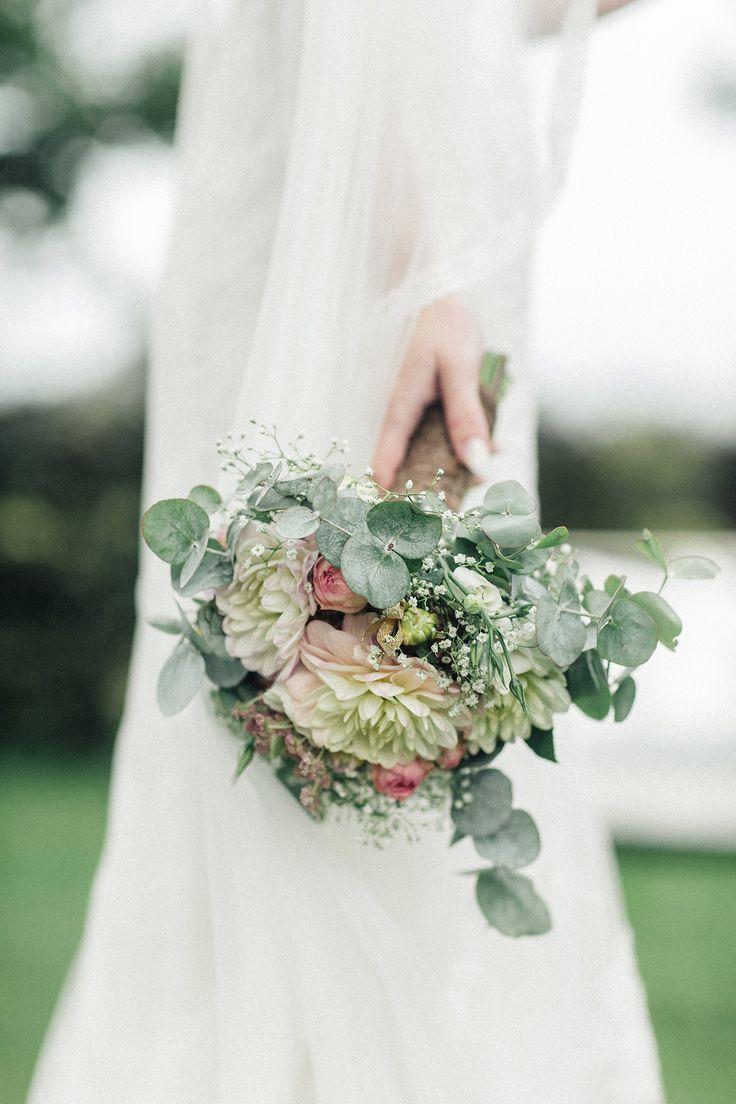 Brautstrauß, Vintage-Strauß, Strauß mit Eukalyptus, Hochzeit, Rostock – brautstrauss
