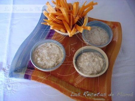 Palitos de zanahoria con salsa de yogur