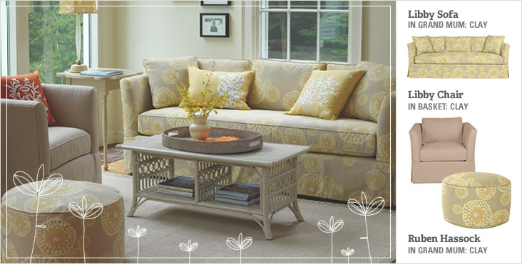 Taupe, yellow, orage & whiteMaine Cottages, Decor Ideas, Traditional Living Room, Living Spaces, Room Decor, Decor Details, Cottages Mainecottag, Sofas Mainecottag, Libbys Sofas