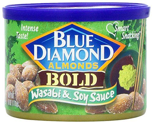 Blue Diamond Almonds, Bold Wasabi and Soy Sauce, 6 Ounce *** Check out this great image