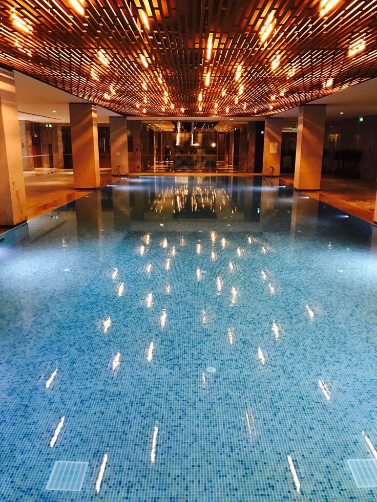 Love this gym and pool! 😍 Lighting & sound & service 10 out of 10! 👌Compliments to @nuobeijinghotel And me for 1km swim after working out! 👊