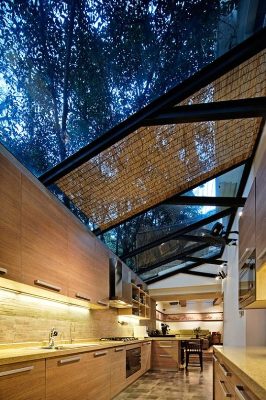 Open Air / Open Ceiling Kitchen