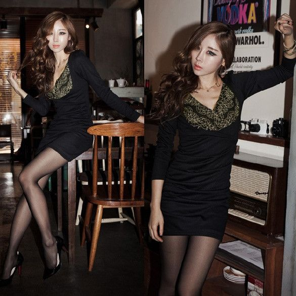 New Fashion Korea Women's Flower Pattern Lace Splicing Dresses Clubwear Party Cocktail Mini Dress