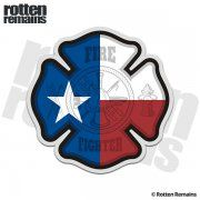 Texas Firefighter TX State Flag Fire Rescue Sticker Decal