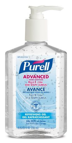 Purell 24 Count Fragrance Free Hand Sanitizer Gel 9651 24 In 2020