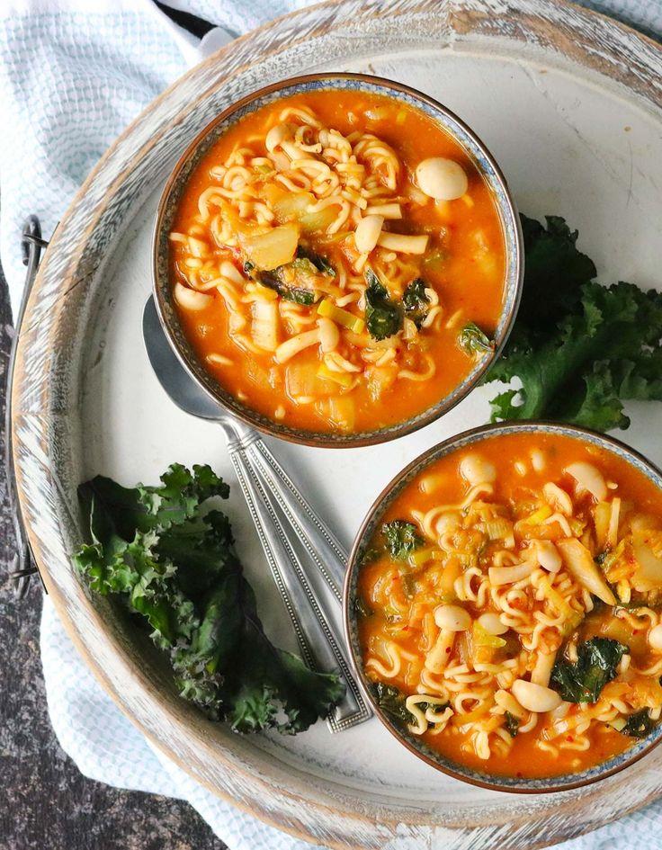 Kimchi Ramen Noodle Soup @soupaddict