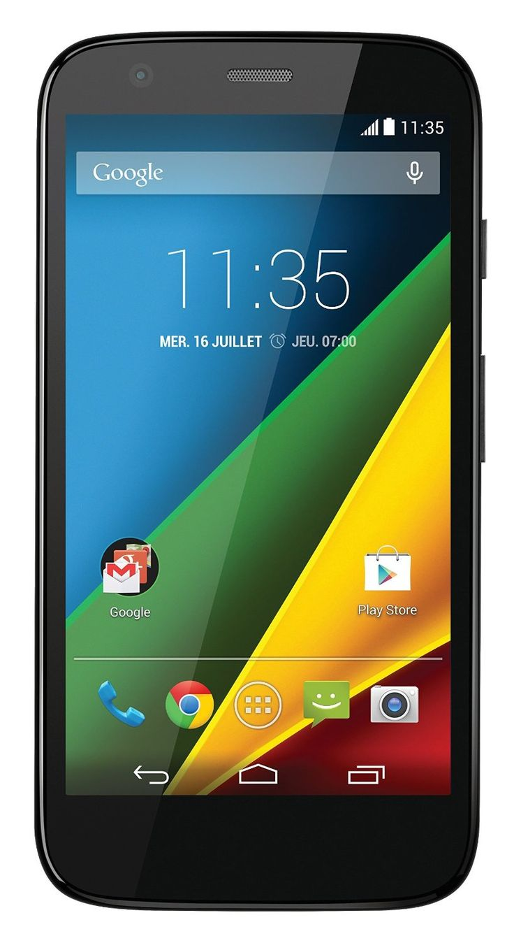 """Motorola G 4G Smartphone débloqué 4G (Ecran: 4.5 pouces. Il me semble très fiable, très réactif, sans excès de surcouche constructeur (on voit que le rachat de Motorola par Google a permis de faire un Google phone d'une """"pureté"""" digne des nexus).  http://www.amazon.fr/gp/product/B00KGA1PEO?ref=bl_mk_&tag=xboxlaconsold-21"""
