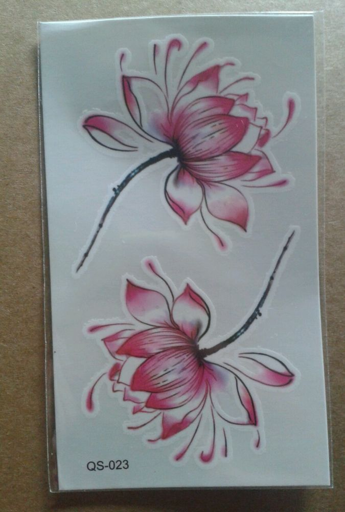 º•º Temporary tattoo Einmal Tatoos Lotus Blüte Blume Lotusblume•º