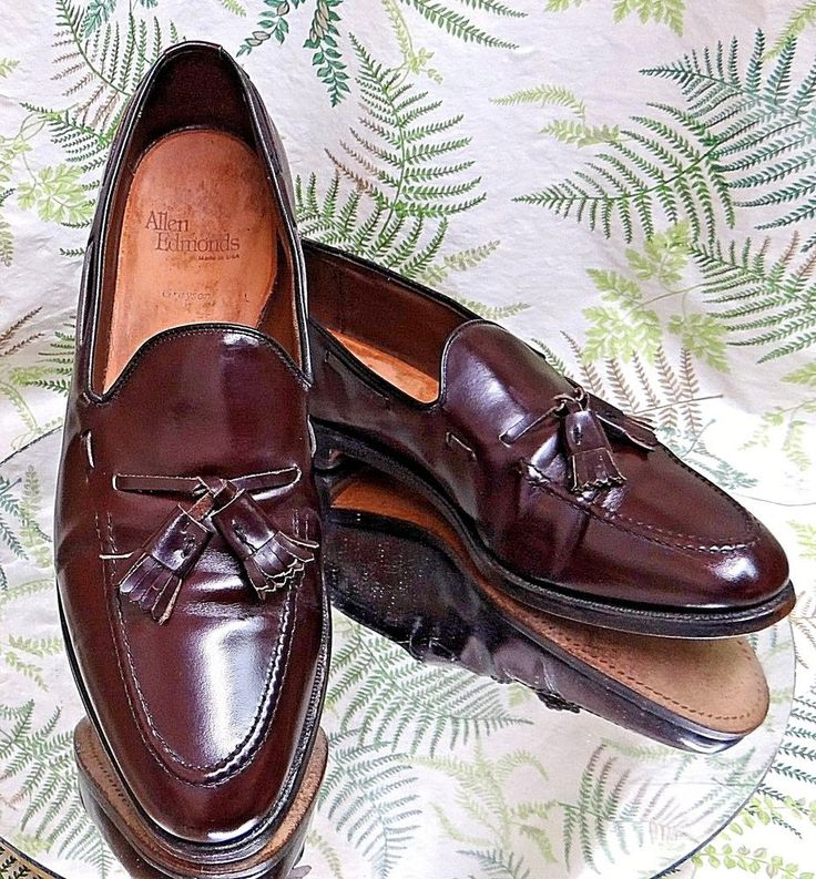 ALLEN EDMONDS GRAYSON BURGUNDY LEATHER LOAFERS DRESS WORK SHOES US MENS SZ 10 B #AllenEdmonds #LoafersSlipOns #Formal