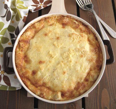 Σουφλέ+με+4+τυριά+και+γιαούρτι