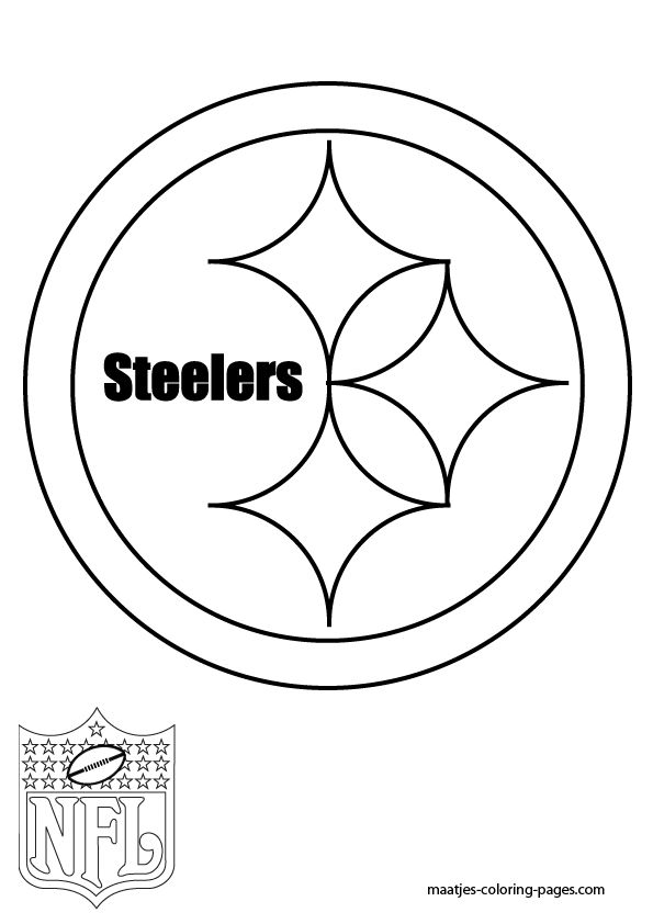 1232 best pittsburgh steelers images on pinterest | steeler nation ... - Nfl Football Logos Coloring Pages