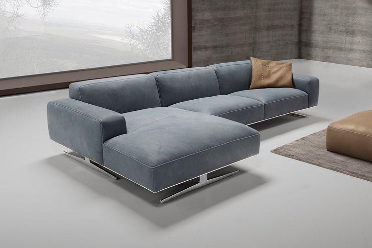 Biondi divano con penisola realizzato interamente in - Divano penisola ...