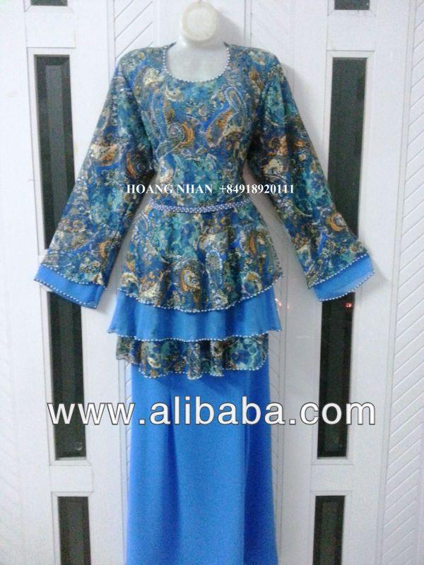 Baju kurung cotton manik, baju kurung chiffon and lace, tudung 3 layers, tudung halfmoon, tudung bawal $8~$16