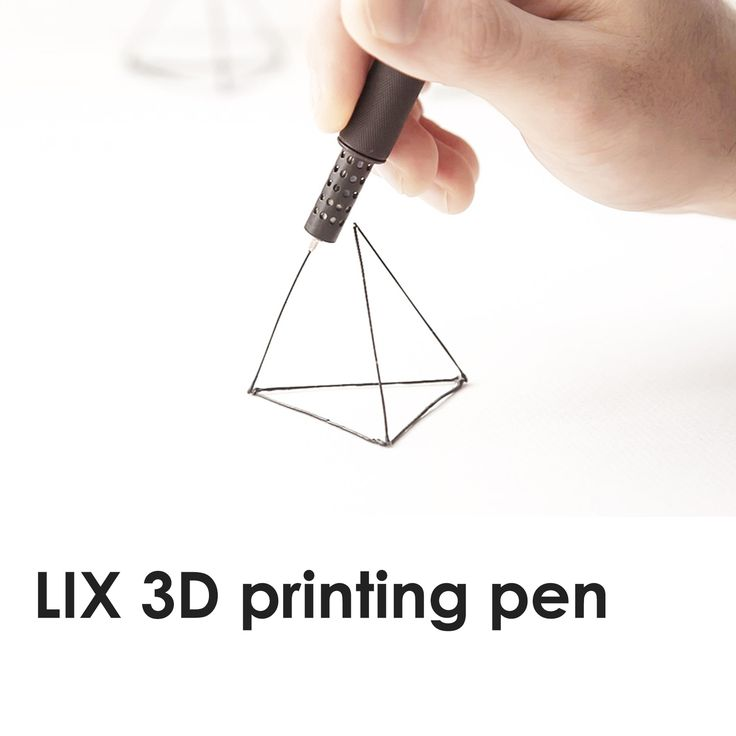 The Kickstarter-funded LIX 3D pen allows doodling in solid 3D form right out of the nib.