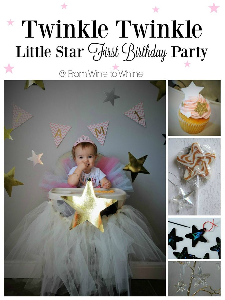 Planning a 1st Birthday? Twinkle Twinkle Little Star Party is simple and adorable!