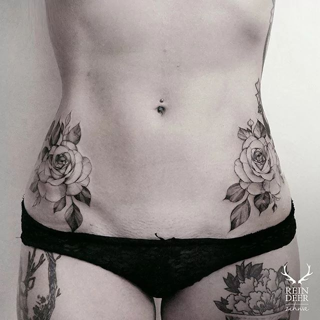 Hip tattoo placement right side, lower vibe to cover