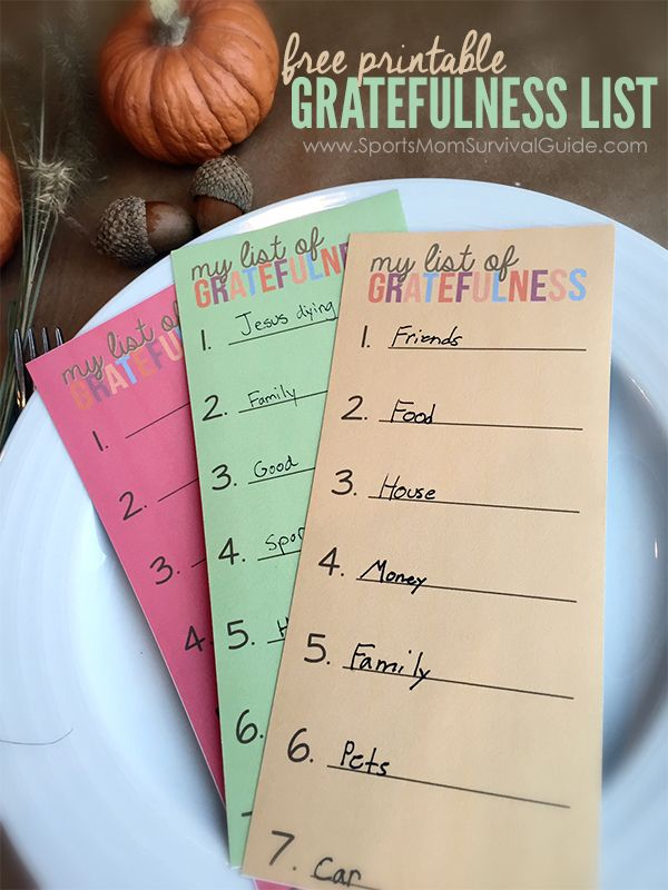 Thanksgiving Gratefulness Printable...perfect for your table and great for a year-by-year keepsake.