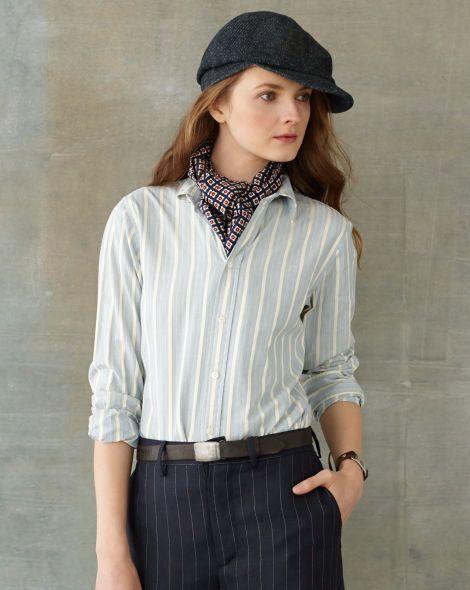 Striped Anna Shirt - RRL Long-Sleeve - RalphLauren.com