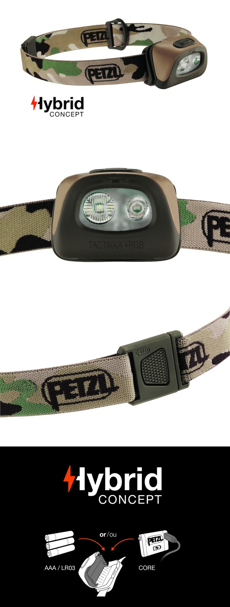 Headlamps 106984: Petzl Headlamp - Tactikka + Rgb (Red, Green, Blue) 250 Lumens, New 2017 Model -> BUY IT NOW ONLY: $54.95 on eBay!