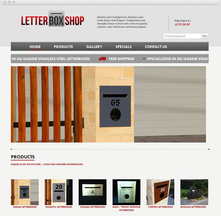 The Letter Box Shop is a wholly Australian owned company, and is a leader in online eCommerce in Australia since 2006.
