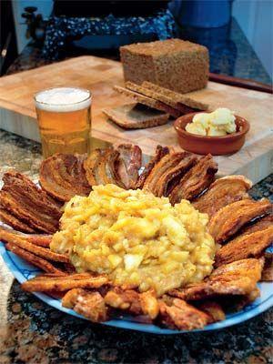 Mormors æbleflæsk - Kød/fjerkræ - Opskrifter - Mad og Bolig
