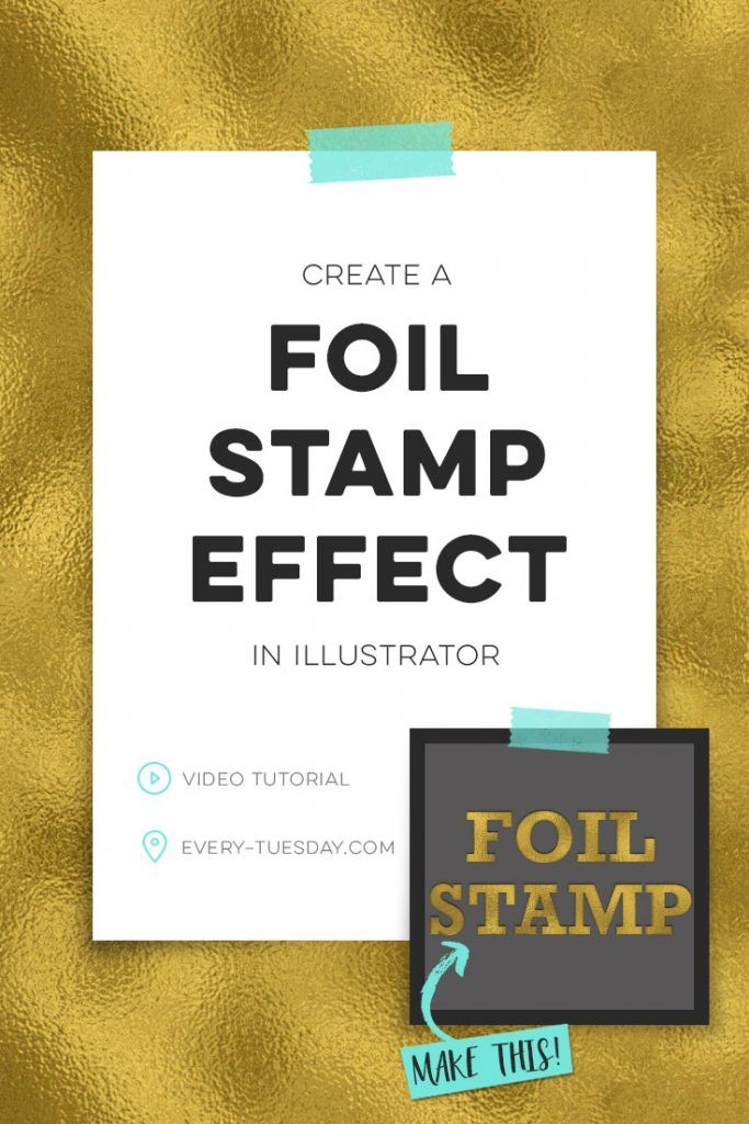 How to Create a Foil Stamp Effect in Illustrator