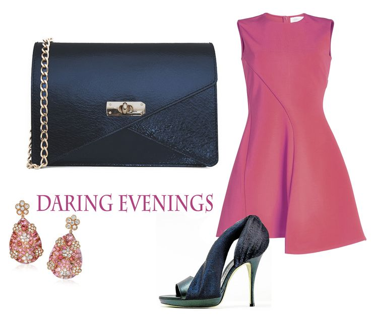 The Barbara clutch would be perfect for a splendid night out downtown; it's one of those luxury accessories that delicately complement your elegant look. The fuchsia dresses paired with this leather bag would give you a wonderful feminine air.