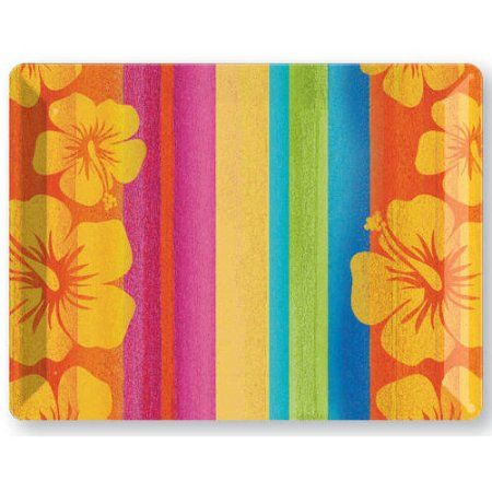 Sunset Stripes Plastic Tray, Assorted