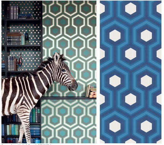 Cole and Son - Hicks Hexagon and Hicks Grand via Design Lovers Blog