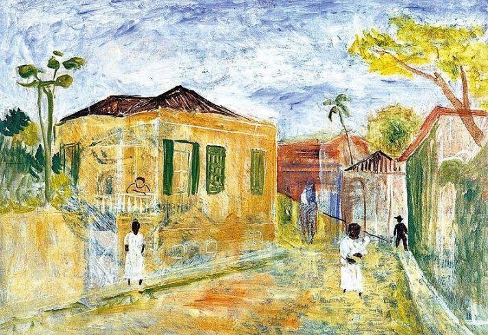 Mogi das Cruzes, 1940 / Alfredo Volpi                                                                                                                                                     Mais