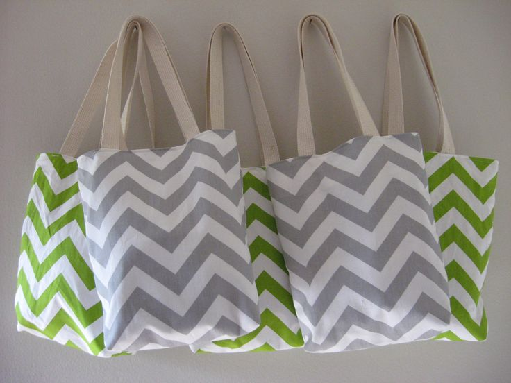 gift bags for wedding guests at hotel | ... mini totes, welcome bags, wedding favors, Chevron Bag, MAID of HONOR