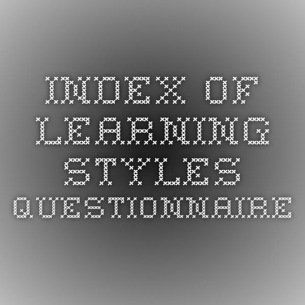 Index of Learning Styles Questionnaire
