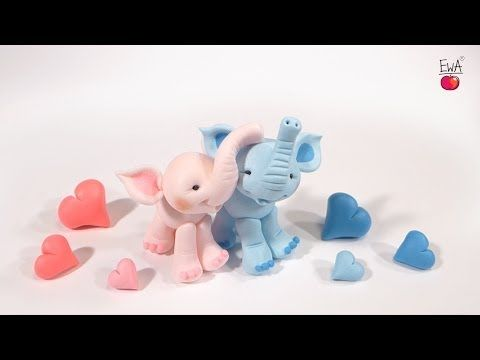 ▶ LET'S CLAY! ELEPHANT polymer clay tutorial. Jak ulepic SŁONIKA z modeliny. - YouTube