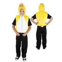 Ördek Başlı Yelek Kostüm, 5-7 Yaş Parti Kostümleri - Unisex Çocuk Parti Kostümleri Hayvan Kostümleri: Kostümlü Parti, Kıyafet Balosu, Doğum Günü Partileri için ideal kostüm.  Ördek başı şapkalı ve kuyruklu, önden fermuarlı, velür kumaş hayvan kostümü.