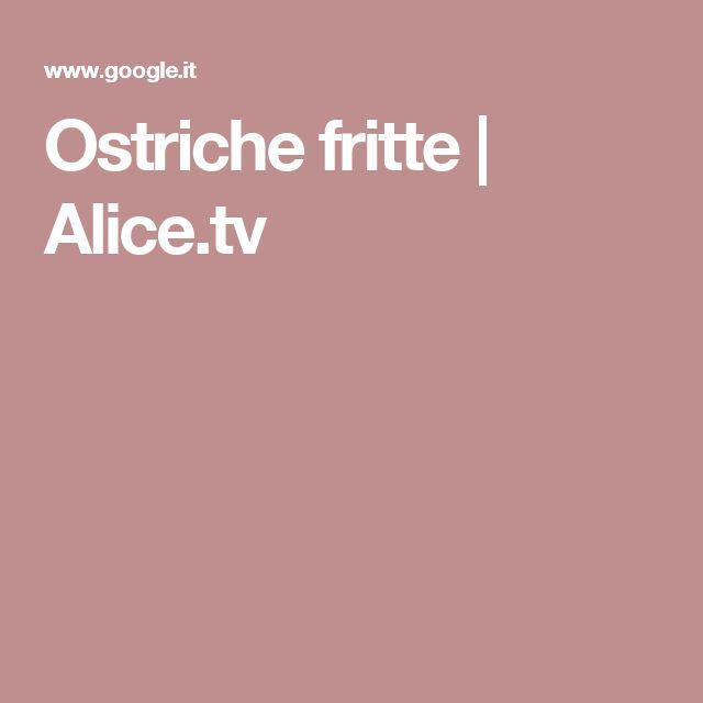 Ostriche fritte | Alice.tv