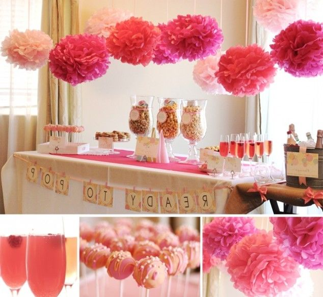 16 Baby Shower Decoration Ideas - Oh how cute! I'm torn b/w a few baby song titles as an alternative to that banner, such as: Sherry Baby (preferably spelled Sharey), Be My Baby, [We're Having A Baby] My Baby & Me, Baby One More Time (For Baby #2! Haha!) We shall see when that time comes....