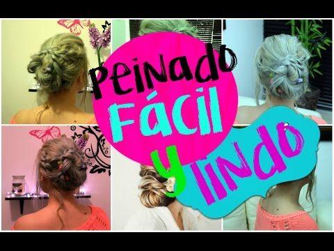 Peinado hermoso y muy fácil. Mira el tutorial.