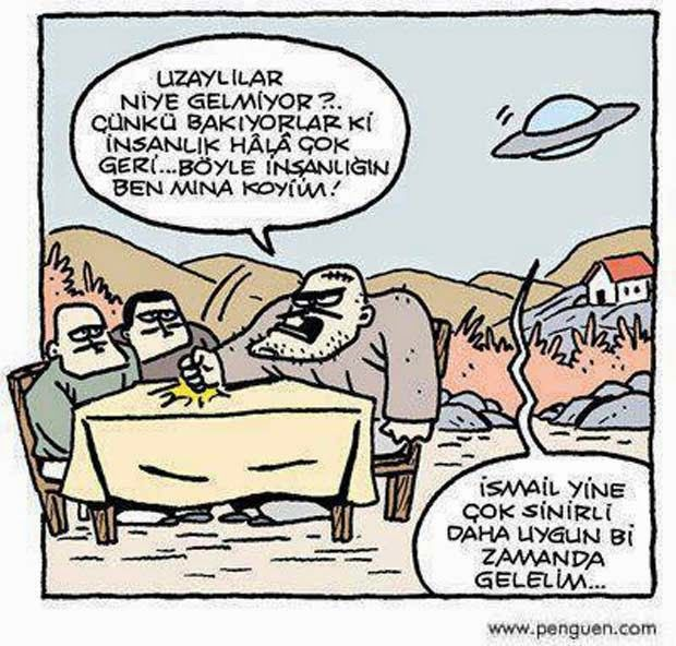 Komik Karikatürler: uzaylı karikatürleri