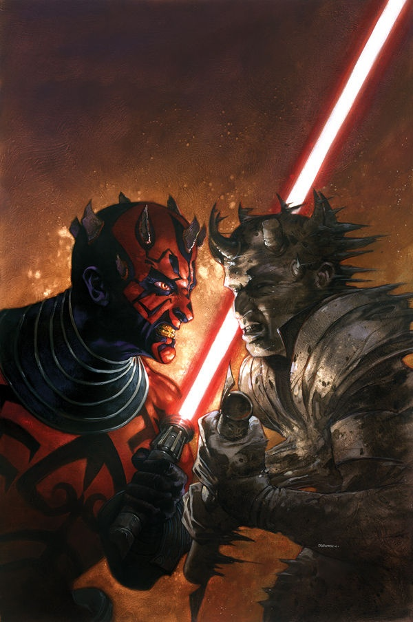 Cover art for 'Darth Maul: Death Sentence #3' by Dave Dorman
