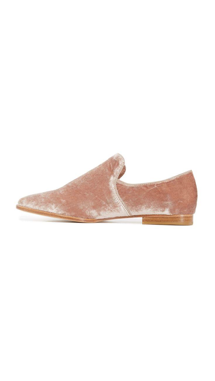 Adrianna Pink Velvet Loafers