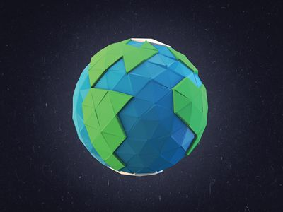 Happy Earth Day! - Low-Poly by Simon Pierre Legare