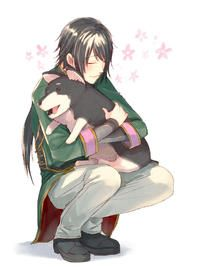 Ren loves doggies!