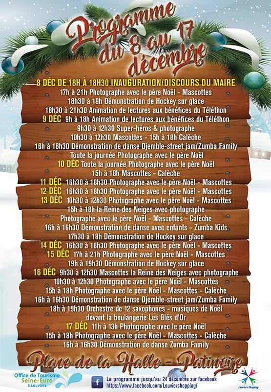 Programme du Marché de Noël 2017 à Louviers