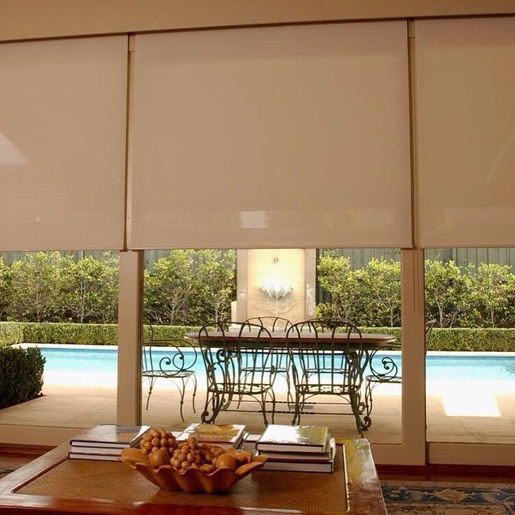 Sheer roller blinds were installed for the living space of this home. We installed three individual rollers so that the client has the flexibility to control the light and outdoor visual. Call and book in a free measure and quote.
