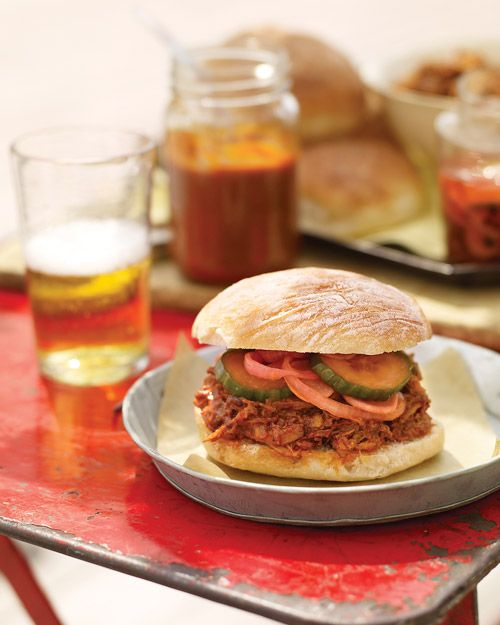 Pulled-Pork Sandwiches Recipe | Cooking | How To | Martha Stewart ...