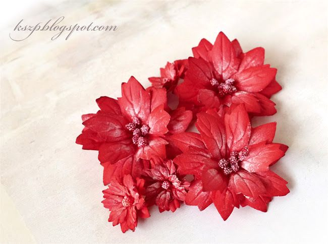 Wild Orchid Crafts: Poinsettias tutorial and Christams ornaments