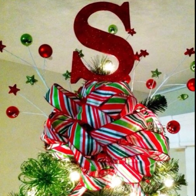 I love that our #ChristmasTreeTopper is our #monogram! #Christmas
