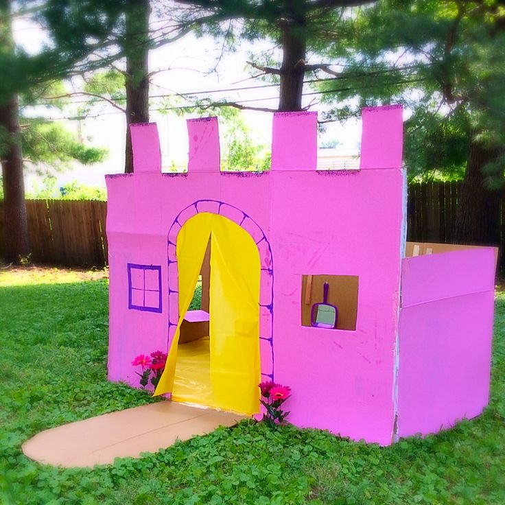 how to build a cardboard castle step by step